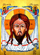 Jesus Christ Mandylion Icon Print by Ryszard Sleczka
