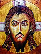 Jesus Christ Mandylion Print by Ryszard Sleczka