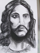 Jesus Drawings Prints - Jesus Christ Print by Manuel Charles Martin