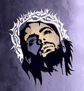 Caricature Posters - Jesus Christ Poster by Mark Ashkenazi