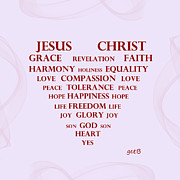Jesus Christ Message Print by Georgeta  Blanaru