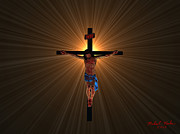 Christ Digital Art Originals - Jesus Christ by Michael Rucker