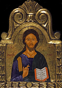 Byzantine Painting Originals - Jesus Christ by Morgos Silwanis