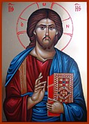 Orthodox Photo Framed Prints - Jesus Christ Our Savior Framed Print by Sanely Great