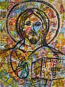 Jesus Mixed Media Framed Prints - Jesus Christ - Pantocrator Framed Print by Adel Nemeth