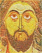 Mother Mary Digital Art Originals - Jesus Christ Pantokrator  by Temur Lursmanashvili