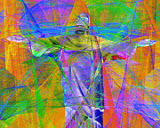 Bible Digital Art Prints - Jesus Christ Superstar 20130617 horizontal Print by Wingsdomain Art and Photography