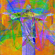 Jesus Digital Art Prints - Jesus Christ Superstar 20130617 square Print by Wingsdomain Art and Photography