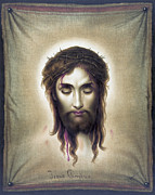 Jesus Crucifiction Framed Prints - Jesus Christus - Veronicas Veil - 1876 Framed Print by Daniel Hagerman