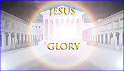 Throne Room Digital Art - Jesus Glory by King David