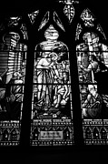 Biblical Scene Posters - jesus healing the stick stained glass window in holy rosary cathedral Vancouver BC Canada Poster by Joe Fox