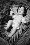 Religious Art Photos - Jesus in the crib by Gaspar Avila