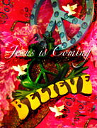 Smiling Jesus Photo Metal Prints - Jesus is Coming Metal Print by Joan Reese