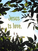 Cartton Framed Prints - Jesus is Love Framed Print by Alison Breskin