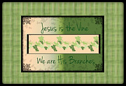 Grape Digital Art Originals - Jesus Is The Vine by Sherry Flaker