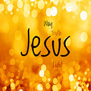 Jesus Light 1 Print by Angelina Vick