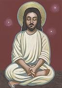 Painted Image Paintings - Jesus Listen and Pray by William Hart McNichols