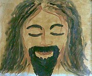Bible Drawings Originals - Jesus Lord And Saviour Oil On Canvas Paintings by Newman Mendes