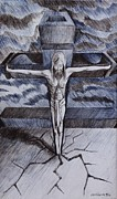 Religious Drawings Originals - Jesus by Lorenzo Muriedas