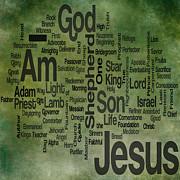 Jesus Name 1 Print by Angelina Vick