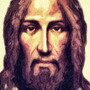 Byzantine Digital Art Prints - Jesus Print by Nishanth Gopinathan