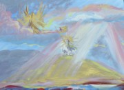 Guadalajara Mexico Paintings - Jesus Raising His Banner Over Mexico by Patricia Kimsey Bollinger