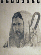 Lord Drawings - Jesus by Rick Fitzsimons