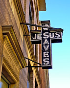 Saves Photos - Jesus Saves by Mark Miller