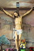 Jesus Originals - Jesus Statue at Latin Church in Taybeh by Munir Alawi