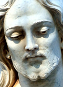 Statue Portrait Digital Art Prints - Jesus Statue Print by David G Paul
