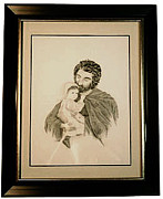 Religious Prints Drawings - Jesus Tender Shepherd by Sarah Moyer