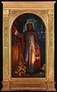 Jesus Art Painting Framed Prints - Jesus The Light of the World Framed Print by William Holman Hunt