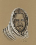 Christian Art Pastels Posters - Jesus the Messiah Poster by Tonya Butcher