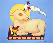 Victorious Paintings - Jesus the Victorious Lamb by Danielle Tayabas