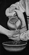 Jesus Washing Peter's Feet Print by Syella