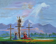 Religious Art Painting Originals - Jesus Went Through Enough for Healing by Patricia Kimsey Bollinger