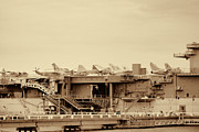 Raw Umber Art - Jet Aircraft on the USS Yorktown Carrier in Patriots Point by Kathy Clark