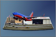 Passenger Plane Art - Jet Chicago Airplanes 12 Out of Bounds by Thomas Woolworth