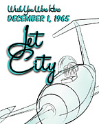 Jet Poster Digital Art - Jet City Poster by Laura Malmquist