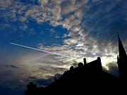 Ion vincent DAnu - Jet Fighter over the Medieval City