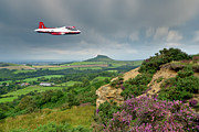 Percival Framed Prints - Jet Provost over the Cleveland Hills Framed Print by Gary Eason