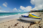 Jet Ski On The Beach At Atlantis Resort Print by Amy Cicconi