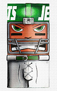 New York Jets Digital Art Posters - Jet Squared Poster by Ray Arcadio