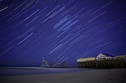 Jet Star Trails Print by Amanda Stevens