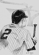 Jeter On Deck Print by Al Intindola