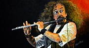 Crazy Painting Framed Prints - Jethro Tull Framed Print by Shirl Theis