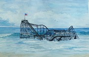 Seaside Heights Painting Prints - JetStar Print by Anita Riemen