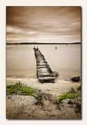 Canon 7d Digital Art Framed Prints - Jetty 01 Framed Print by Kevin Chippindall