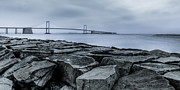 Westchester County Framed Prints - Jetty at Fort Totten Framed Print by David Hahn