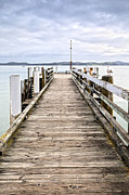 Auckland Prints - Jetty at Maraetai Beach Auckland New Zealand Print by Colin and Linda McKie